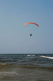 Paraglider over the ocean Royalty Free Stock Image