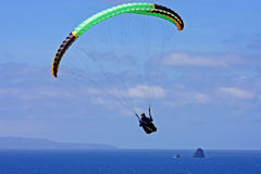 Paraglider over Perranporth Stock Photos