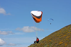 Paraglider over Rhossili Royalty Free Stock Photos