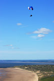 Paraglider over Rhossili Stock Photography