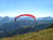Paraglider over salzkammergut Stock Images