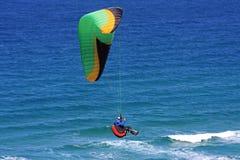 Paraglider over the sea Stock Photos
