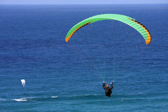 Paraglider over the sea Stock Photography