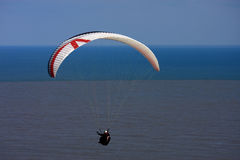 Paraglider over the sea Royalty Free Stock Image
