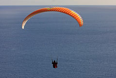 Paraglider over the sea Stock Image