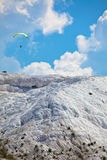 Paraglider at Pamukkale Stock Photo