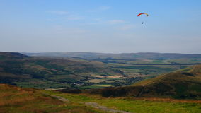 Paraglider in the Peak District, UK Stock Photography