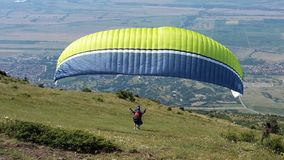 Paraglider people. In SOpot town Royalty Free Stock Photos