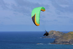 Paraglider at Perranporth Stock Image