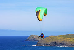 Paraglider at Perranporth Royalty Free Stock Image
