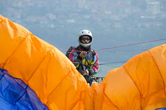 Paraglider pilot Royalty Free Stock Images