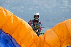 Paraglider pilot Obrazy Royalty Free