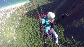 Paraglider pilot, physical handicapped stock video footage