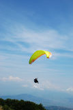 Paraglider in Prilep, Macedonia. Paraglider in the sky.Paragliding in  Macedonia Royalty Free Stock Photos