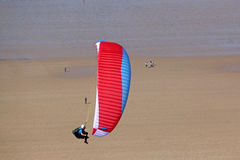 Paraglider at Rhossili Royalty Free Stock Photo