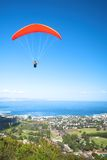 Paraglider ridge soaring next Royalty Free Stock Images