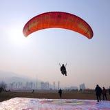 Paraglider rywalizacja Fotografia Royalty Free