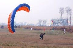 Paraglider rywalizacja Obraz Royalty Free
