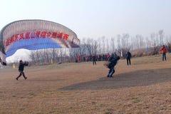 Paraglider rywalizacja Fotografia Stock