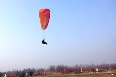 Paraglider rywalizacja Zdjęcie Royalty Free