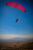 Paraglider. Sailing over Pamukkale, Turkey stock photos