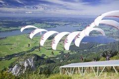 Paraglider_Sequenz_white Royalty-vrije Stock Fotografie