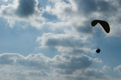 Paraglider silhouette Stock Image