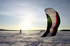 Paraglider silhouette Stock Images