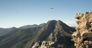 Paraglider in the sky Stock Images