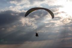 Paraglider in the sky Royalty Free Stock Photo