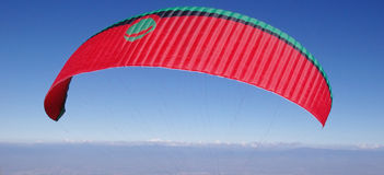 Paraglider in the sky Royalty Free Stock Photography