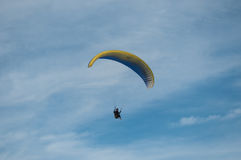 Paraglider on the sky Royalty Free Stock Photography