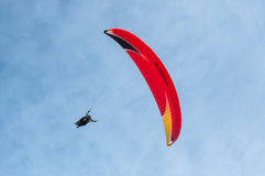 Paraglider on the sky Stock Images
