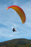 Paraglider on the sky Stock Photo