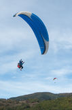 Paraglider on the sky Stock Image