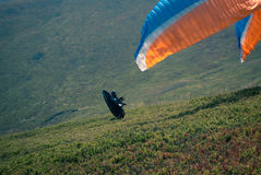 Paraglider is starting. royalty free stock images