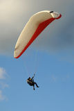 Paraglider in a stormy sky Stock Photos
