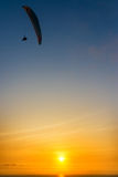 Paraglider Sunset Stock Photography