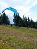 Paraglider Szczyrk, Polen Fotografering för Bildbyråer
