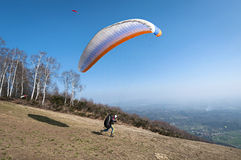 Paraglider take-off Royalty Free Stock Image