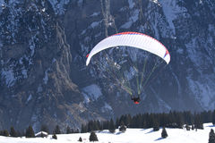 Paraglider Taking-off Stock Images
