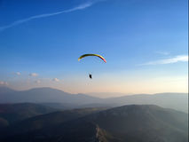 Paraglider in the twilight Royalty Free Stock Image