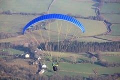 Paraglider w Brecon bakanach Obraz Royalty Free