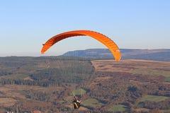 Paraglider w Brecon bakanach Obrazy Royalty Free