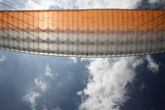 Paraglider wing bottom view Royalty Free Stock Photography