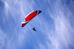 Paraglider z silnikiem Zdjęcia Royalty Free
