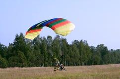 paraglider zacząć Obraz Royalty Free