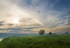 Paragliderdrömmare Fotografering för Bildbyråer