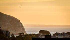 paraglideren har den bästa sikten Arkivfoton