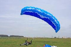 Paragliderjordbruk Arkivbilder